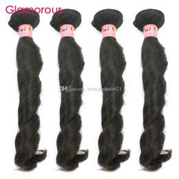 Glamorous Virgin Peruvian Hair Weave 4 Bundles Funmi Wavy Malaysian Indian Russian Brazilian Hair Weft Large Stock Virgin Hair Extensions