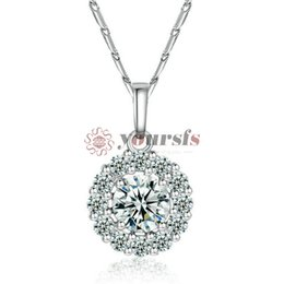 Yoursfs 18k gold-plated round zircon fashion clothing necklace