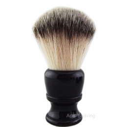 Nylon Hair Wet Beard Shaving Brush Black Resin Handle Synthentic Knot Size 24mm