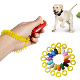 Pet Dog Trainer Portable Dog Button Clicker Sound Trainer Pet Training Tool Wrist Band Accessory Click Training Trainer