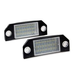 2Pcs Error Free 24 White LED License Number Plate Light Rear Lamps Car Bulbs Lights fit for Ford Focus MK2 Ford C-MAX MK1