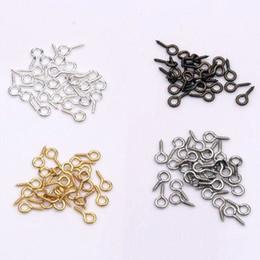 Hot ! 1000pcs New Screw Eye Bail Top Drilled 4x9mm Tibetan Silver  Gold   Silver   Antiqued Bronze DIY Jewelry