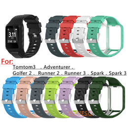 New Silicone Replacement Watchband Wrist Band Strap For TomTom 2 3 Series Runner 2 3 Spark Series Golfer 2 Adventurer GPS Watch