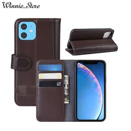 Genuine Leather Case For iPhone XI MAX XIR XI 2019 Magnetic Wallet Flip Cover For iPhone XS MAX XR X 8 7 plus with Card Slot Stand