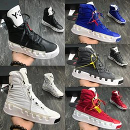 2019 New 19ss Y-3 Women Mens Fashion Luxury Designer QASA Y3 Kasabaru High White Black Red Y 3 Blue Boots Size 36-45