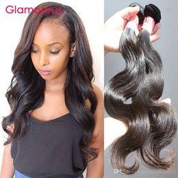 Glamorous Brazilian Virgin Hair 2 Bundles Body Wave Human Hair Weaves Peruvian Brazilian Indian Malaysian Human Hair Extensions 100g pcs