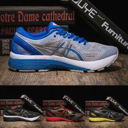 2019 Asics Gel Nimbus 21 Men Women Running Shoes Mid Grey Illusion Blue Designer Sneakers Hot Sale Fashion Sports Shoes Size 36-40