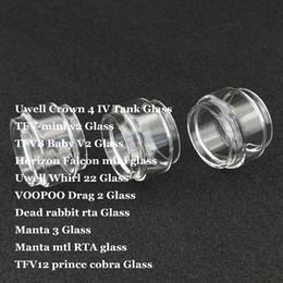 Fat Replacement Bulb Glass Tube for Crown 4 IV Whirl 22 TFV-mini v2 TFV8 Baby V2 Falcon mini Drag 2 Manta 3 MTL TF12 Prince Cobra DHL