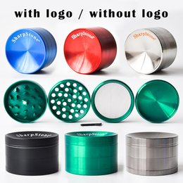 Newest Concave Grinders Sharpstone Concave Cover Grinder Herb Spice Crusher 40mm 50mm 55mm 63mmTobacco Grinder 6 Colors DHL Free Shipping