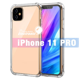 For iPhone 11 PRO MAX X XS MAX XR 7 8 Clear TPU Case Shock Absorption Soft Transparent Back Cover For Samsung Note 10 S10 Plus S10 E S9