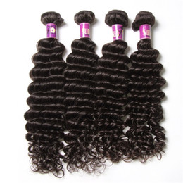 50% Perfect 4 bundles Indian Deep Wave Human Hair 10-28inch Cheap Indian Hair Extensions 100 Natural Human Hair Deep Wave Wavy Weaves Weft
