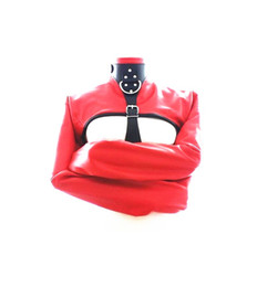 Wholesale Factory supply Adjustable SM Bondage suit red color women sofe Leather Restraint Straight Jacket Costume Straitjacket Fetish