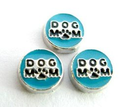 20PCS lot Dog Mom Floating Locket Charms Fit For Magnetic Memory Floating Lockets As Jewelry Making