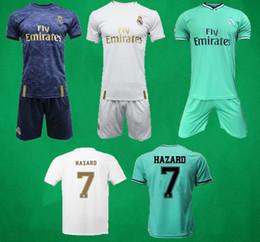 19 20 Real Madrid Home Away Soccer Jersey Shorts 2019 2020 RONALDO ASENSIO HAZARD KROOS Football Kits ISCO Camiseta De Fútbol Football Shirt