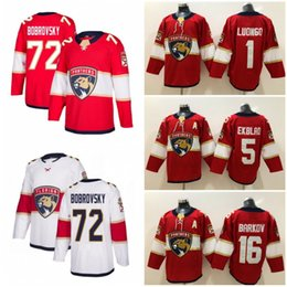 72 Sergei Bobrovsky Florida Panthers Newest Hockey 1 Roberto Luongo 16 Aleksander Barkov 5 Aaron Ekblad Red White Jerseys
