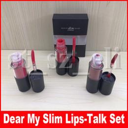 M Lip Makeup Set Dear My Slim Lips-Talk Matte Liquid Lipstick 3 in 1 Lip Gloss Lipgloss Set