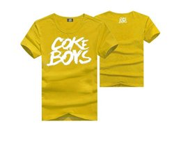 Quick Dry s-5xl COKE BOYS tees hiphop short sleeve t-shirts cheap o neck tees men's Free shipping
