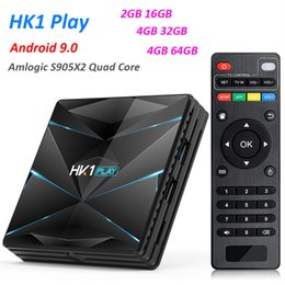 HK1 PLAY Smart TV Box Android 9.0 Amlogic S905 X2 4GB DDR3 64GB Max 2.4G 5G Dual WiFi USB3.0 BT4.2 Support 4K H.265 Media Player