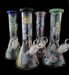 """New 8""""glass water pipes glass bong two functons high quality water pipe with glass bowl 18.8mm joint"""