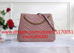 100% genuine leather women tote handbag famous designer lady shoulder bag Luxury top quality women chain hobo bag 255