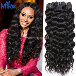MikeHAIR Most Popular Brazilian Human Hair Deep Body Wave Natural Color Wavy Hair Extensions 100% Unprocessed Human Hair Bundles 3Pcs Lot