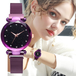 2019 High quality Fashion Sexy Women Wristwatch Luxury watch Rose Gold Lady wristwatch brand table Quartz Magnet lock Relojes De Marca Mujer