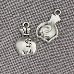 Fashion Tibetan Silver Color Wallet Charms Alloy Purse Money Bag Charms 10*17mm 100pcs AAC1131