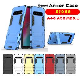 For Samsung S10 5G Armor Kickstand Case Samsung M30 A70 A30 A50 M20 S10 PLUS J4 J6 2018 HUAWEI Y7 2019 P30 LITE MATE 20 Hybrid Phone Cover