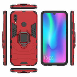TPU+PC Dual Layers Full Shockproof Armour Phone Case For Huawei P20 Mate10 9 Nova3 Honor Play 7A 8X V10 Cover With Finger Ring