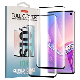 For Samsung S10 S10E S10 Plus Screen Protector Fingerprint Unlock Case Friendly Curved Tempered Glass for Galaxy S9 Note 9 S8 S7 EDGE in Box