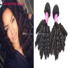 Glamorous Brazilian Human Hair Baby Curly Hair 4 Bundles Natural Color Double Weft Malaysian Indian Peruvian Virgin Hair Extensions on sale