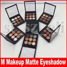 M Makeup Eye Shadow X 9 Colors Matte Satin Eyes Pro Color 9 Compact Makeup Eyeshadow Palette