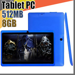 50X 2018 7 Inch Q88 ALLwinner A33 Quad Core Tablet PC 8GB 512MB 1.5GHz Android 4.4 HD Tablets Dual Cameras A-7PB