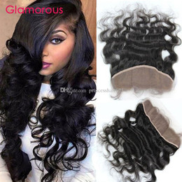 Glamorous Remy Human Hair Ear to Ear Lace Frontals 8-24Inches Body Wave Wavy Hair Closures Peruvian Indian Malaysian Brazilian Hair Frontals