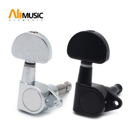 Sealed-gear Acoustic Electric Guitar String Tuning Pegs Tuners Machine Head - Big Semicircle Button