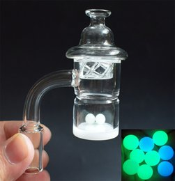 2019 Newest XL Splash Guard Opaque Bottom Quartz Banger Nail with Cyclone Spinning Carb Cap and Terp Pearl Insert For Glass Bongs Smoking