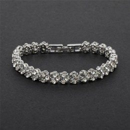 Zircon Bride Wedding Bracelet & Bangles Hip hop Jewelry 7 mm CZ Tennis Bracelets For Women Men Party Gifts
