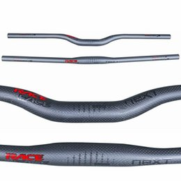 31.8mm Clamp 620-760mm Length 5 Degree Backsweep 3K Matte Race Face Full Carbon Fiber MTB Flat Handlebar Riser