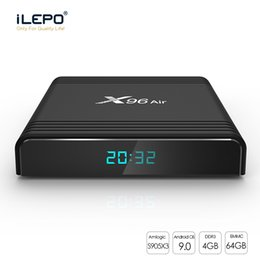 X96 Air Android TV Box with Android9 S905X3 4GB 32GB 64GB 2.4G+5G wifi Bluetooth smart tv box 8K 1080P Update X96 mini