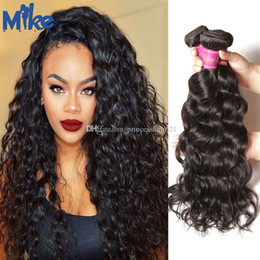 MikeHAIR Brazilian Hair Weave Unprocessed Virgin Human Hair Wefts Indian Malaysian Peruvian Hair Extensions 3Pcs Double Weft Natural wave