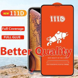 Better Quality 111D tempered glass protector for iphone 11 2019 iPhone XR XS Max X 8 7 6 Plus samsung galxay A30S A50S A10S a20 core a40 a50
