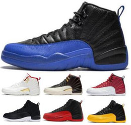 12 12s Basketball Shoes Sneakers Fiba French Gamma Royal Blue Nylon Flu Game Flight The Master 2020 Baskets Mens Women Man Trainers Shoes