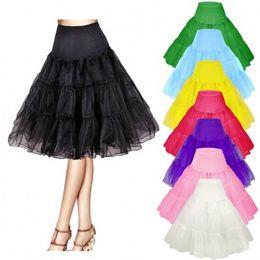 Vintage Short Wedding Petticoat 50s Retro Underskirt Swing Rockabilly Fancy Adult Tutu Skirt Wedding Accessories jupon femme CPA423