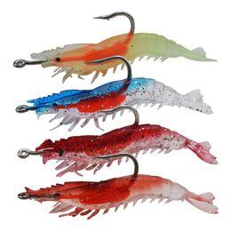 10pcs 6cm 3g Shrimp Hook Fishing Hooks Single Hook Soft Baits & Lures Artificial Bait Pesca Fishing Tackle Accessories