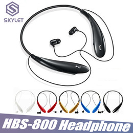 HBS800 Bluetooth Headphone Wireless In Ear Earphone Headset HBS 800 Sport Jogging Neckband Headphone for iPhone LG Samsung Huawei Xiaomi