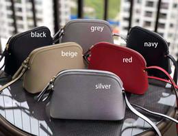 6 colors Brand designer purse Handbags crossbody Bag Cross body women Shoulder Bags Shell style pu