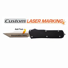 Personalized Laser Engraved D A Tanto Knife CNC D2 blade EDC tactical knives Christmas Gifts, Groomsmen Gifts & Anniversary Gifts for Men