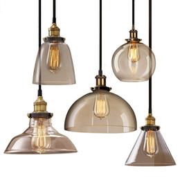 AC100-240V Classic Vintage pendant Light Cafe Creative Glass Pendant Bar Lamp Clothing Store Fixtures Hanging Pendant Lights