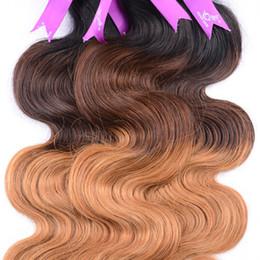 7A Irina Hair Products Brazilian Virgin Hair Ombre Body Wave Cheap 4 Bundles Ombre Unprocessed Brazilian Remy Human Hair Weave Ombre 1B 4 30