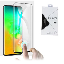 Support Fingerprint Unlock 3D Curved Tempered Glass Screen Protector For Samsung Galaxy S10 S10 PLUS 100pcs in retail package